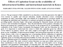 effects_of_capitation_grant_on_the_availability_of_infrastructural_facilities_and_instructional_materials_in_kenya